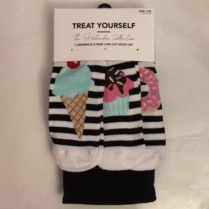 Legging & 3 pair of low cut socks SET